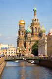 View of Church of the Savior on Spilled Blood Royalty Free Stock Photos