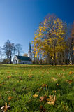 A view of a church in sigulda Royalty Free Stock Photos
