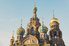 View Of Church On Spilled Blood Royalty Free Stock Image