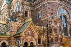 View Of Church On Spilled Blood Royalty Free Stock Photography