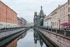 View Of Church On Spilled Blood Royalty Free Stock Photos