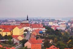 View on Church of st.Filip and Jakov. Panaroma view of Vukovar. Church of St.Filip and Jakov in Vukovar (Croatia stock photos