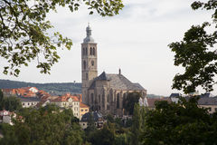 View on church of St. James in Kutna Hora. View on church of St. James in historical centre of town Kutna Hora in the Czech republic Stock Photography