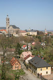 View of the Church of St. James St. Jacob Church in Kutna Hora,Czech Republic Royalty Free Stock Photos