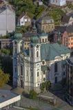 View of Church of St. Mary Magdalene,Karlovy Vary Royalty Free Stock Photo