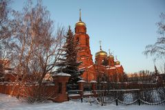 Russia. Mordovia republic, The Church Of St. Nicholas in Saransk. View at The Church Of St. Nicholas in Saransk, Repulic Mordovia, Russian federation during royalty free stock image