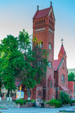 View of the Church of St. Simeon and St. Helena in Minsk, Belaru Stock Photography
