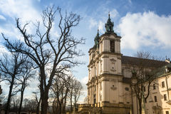 View of the Church of St. Stanislaus Bishop in Krakow. Travel. Royalty Free Stock Image