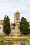 View of the Church of St. Trophime in Arles - France Royalty Free Stock Images