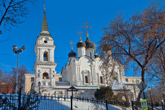 View of the Church of St. Vladimir in Old Gardens. Moscow Royalty Free Stock Photography