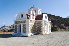 View of the Church standing on the coast. Crete. Greece. Royalty Free Stock Photography