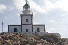 View of the Church standing on the coast. Crete. Greece. Royalty Free Stock Image
