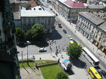 View from Church of Sts. Olha and Elizabeth Lviv Royalty Free Stock Image