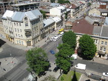 View from Church of Sts. Olha and Elizabeth Lviv Royalty Free Stock Photography
