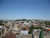 View from Church of Sts. Olha and Elizabeth Lviv Stock Photo