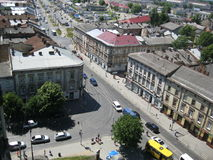 View from Church of Sts. Olha and Elizabeth Lviv Stock Image