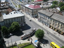 View from Church of Sts. Olha and Elizabeth Lviv Royalty Free Stock Photo