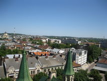 View from Church of Sts. Olha and Elizabeth Lviv Stock Photos