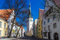 View on Church in Tallinn, Estonia stock images