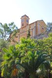 View of church in the town of Eze Stock Images
