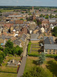 View of Church walk towers and roofs. Stock Photos