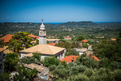 View on a church on Zakynthos Stock Image