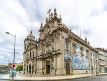 View at the churches Carmelitas and Carmo in Porto - Portugal Stock Images
