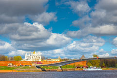 View of the churches of Novgorod Kremlin Royalty Free Stock Photography