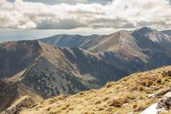 View from Ciemniak  - Tatras Mountains. Autumn day Royalty Free Stock Photography