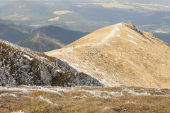 View from Ciemniak  - Tatras Mountains. Autumn day Royalty Free Stock Images