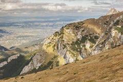 View from Ciemniak  - Tatras Mountains. Autumn day Royalty Free Stock Photos