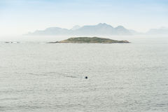 View of the Cies Islands from the coast Stock Photos