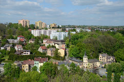 View of the Cieszyn in Poland. View of the city - Cieszyn in Poland royalty free stock photos