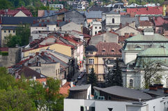 View of the Cieszyn in Poland. View of the city - Cieszyn in Poland royalty free stock photo