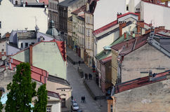 View of the Cieszyn in Poland. View of the city - Cieszyn in Poland stock photo