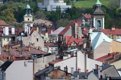View of the Cieszyn in Poland. View of the city - Cieszyn in Poland royalty free stock images