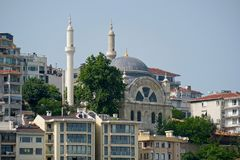 View of Cihangir Mosque in Istanbul royalty free stock photo