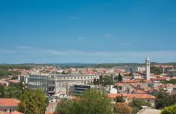 View of the ciiy Pula. Croatia Royalty Free Stock Photos