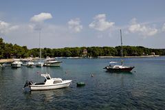 View at Cikat bay, Mali Losinj. Croatia Royalty Free Stock Photo