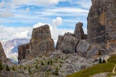 View of  Cinque Torri Royalty Free Stock Images