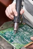 View of a circuit board being repaired Royalty Free Stock Photos