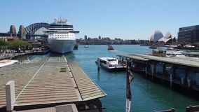 Circular Quay, Sydney Harbour, Australia stock video footage