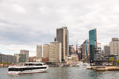 View of Circular Quay and Sydney Business District Center Royalty Free Stock Image