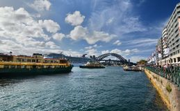 View from Circular Quay. Sydney. New South Wales. Australia Royalty Free Stock Images