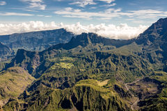 View of the Cirque de Mafate from the Maido Royalty Free Stock Photos