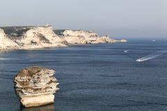 View from the citadel of Bonifacio in Corsica Stock Photos