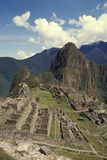 View of the Citadel of  Machu Picchu, Peru. Royalty Free Stock Image