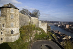 View on Citadel and Meuse river in Namur. Belgium Stock Images