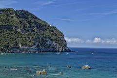 View of Citara beach in Ischia Island Royalty Free Stock Photo