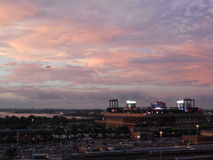 View of Citi Field from Arthur Ashe Stadium. Stock Photos